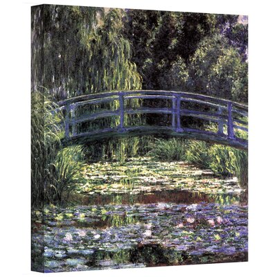 tile floor and decor wall bridge at sea pond by claude monet 22296