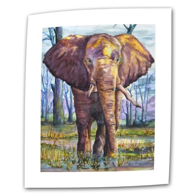 """ArtWall """"Elephant"""" by Dan McDonnell Painting Print on Canvas"""