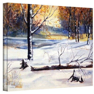 ArtWall ''Winter Woods'' by Dan McDonnell Painting Print on Canvas