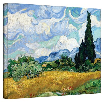 ArtWall 'Cypress' by Vincent Van Gogh Painting Print on Wrapped Canvas