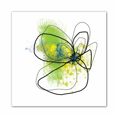 'Citron Petals ' by Jan Weiss Graphic Art Canvas by ArtWall