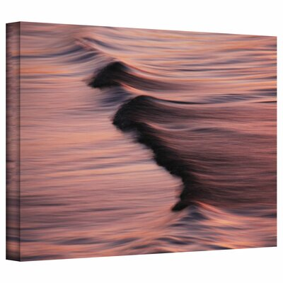 """ArtWall """"Waves After Sunset"""" by David Liam Kyle Photographic Print on Canvas"""