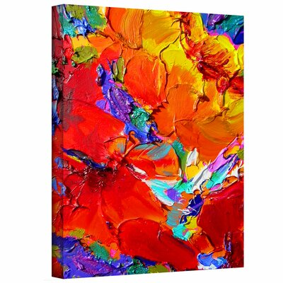 "ArtWall ""Charlits Floral"" by Susi Franco Painting Print on Canvas"