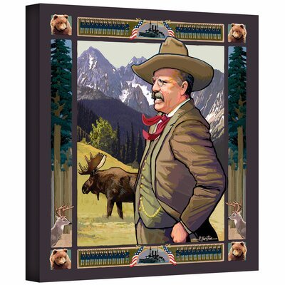 ArtWall 'Teddy Roosevelt' by Rick Kersten Painting Print on Canvas