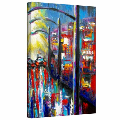 ArtWall '8 O'Clock Street Lights' by Susi Franco Painting Print Canvas