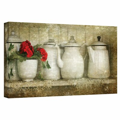 """ArtWall """"Flower with Pots"""" by David Liam Kyle Graphic Art on Canvas"""