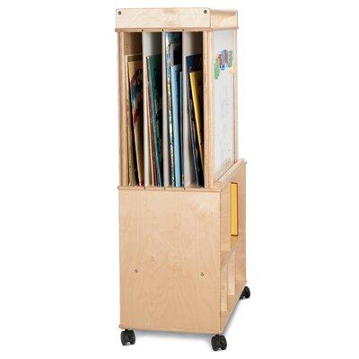 Jonti-Craft Mobile Script-n-Skills Station Magnetic Free-Standing Whiteboard, 4' x 3'