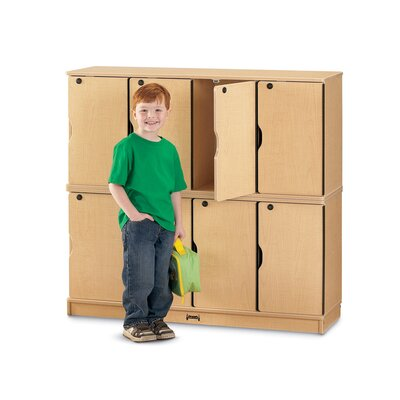 Jonti-Craft 8-Sections Double Stack Lockable Lockers