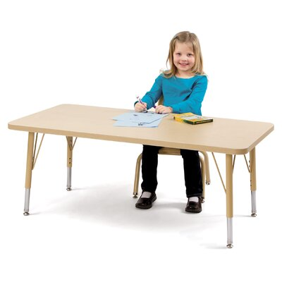 "Jonti-Craft Berries 36"" x 24"" Rectangular Classroom Table"