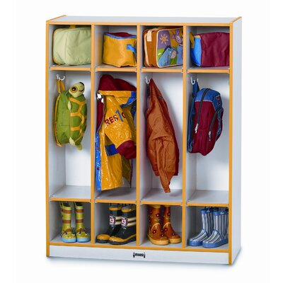 Jonti-Craft 1 Tier 4-Section Coat Locker Locker 0268JCWW