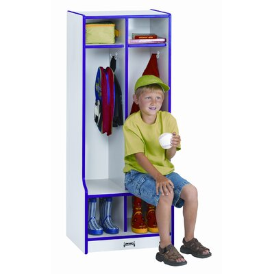 Jonti-Craft 1 Tier 2-Section Double Locker with Step