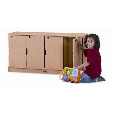 Jonti-Craft 4-Section Stacking Lockable Lockers