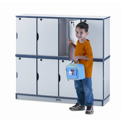 Jonti-Craft 4-Section Stacking Lockable Lockers Lockers 4688JC