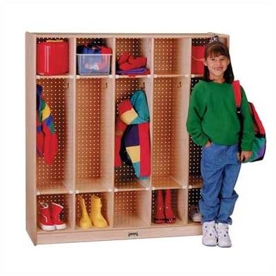 Jonti-Craft ThriftyKYDZ 1 Tier 5-Section Coat Locker