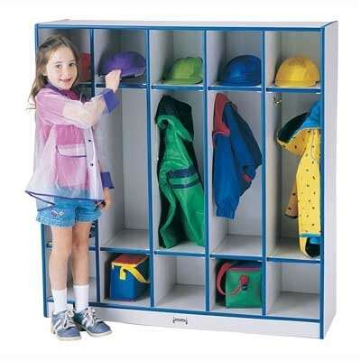 Jonti-Craft Rainbow 1 Tier 5-Sections Coat Locker
