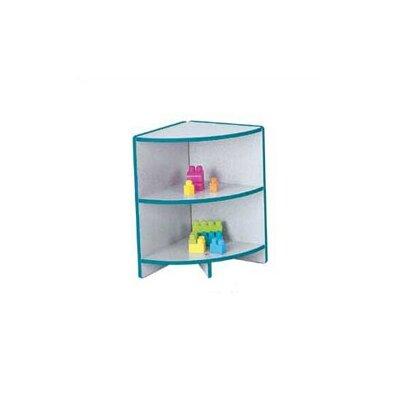 "Jonti-Craft KYDZ Curves 24"" H Rainbow Accents Corner Bookcase"