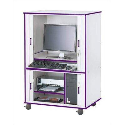 Jonti-Craft Rainbow Accents Rectangular Computer Cabinet