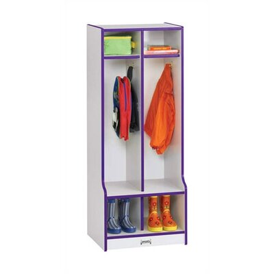 Jonti-Craft Rainbow 1 Tier 2-Sections Double Locker 4682JCWW00 X