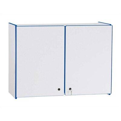 Jonti-Craft Rainbow Accents Lockable Rectangular Wall Cabinet