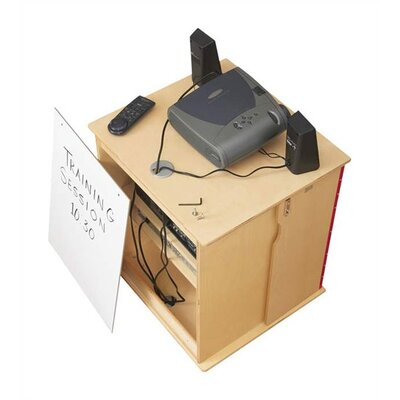 "Jonti-Craft KYDZ Lockable Presentation Cart - Rectangular (24"" x 23"")"