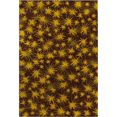 how to put an accent over a letter soleil yellow brown rug wayfair 22345 | Filament LLC Cinzia Brown Yellow Sparkling Stars Area Rug CIN100 576