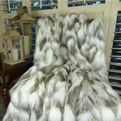 Tibet Fox Handmadee Faux Acrylic Blanket by Plutus Brands