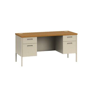"""HON Metro Classic 60""""W x 24""""D Double Pedestal Desk"""