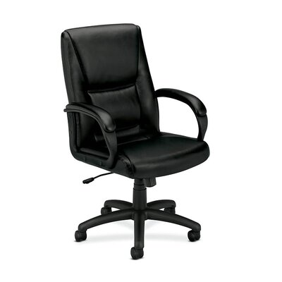 HON Basyx High-Back Leather Executive Chair