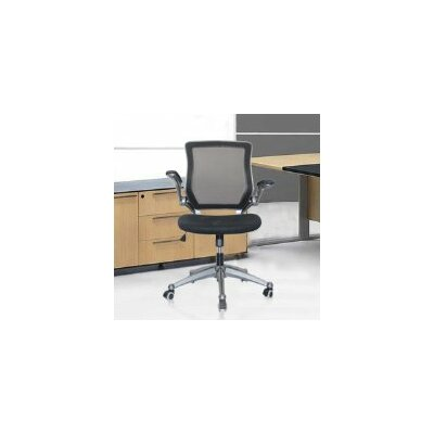 Versatile Mid-Back Mesh Optimum Office Chair with Casters by Manhattan Comfort