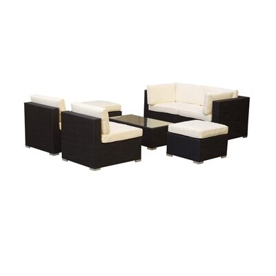 Belle Glade 7 Piece Deep Seating Group with Cushion by Manhattan Comfort