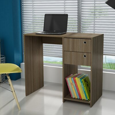 Accentuations Practical Pascara Work Desk with 2-Drawers and 1 Cubby in Tobacco by Manhattan ...