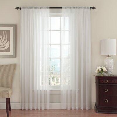 Textured Chiffon Single Curtain Panel Product Photo