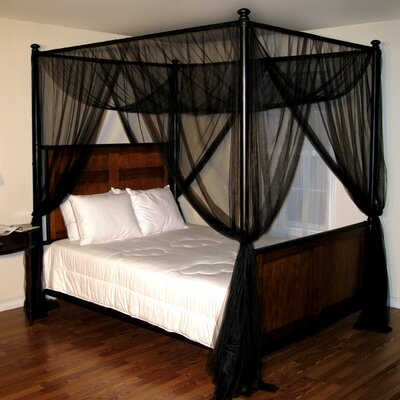 Casablanca Palace 4-Post Bed Sheer Panel Canopy Net