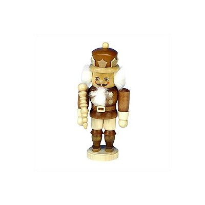 Small Natural Wood Finish King Nutcracker by Christian Ulbricht