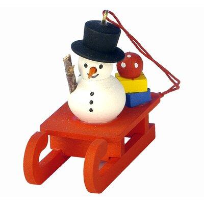 Christian Ulbricht Snowman on Sled Ornament