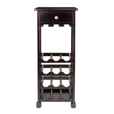 Marsala 12 Bottle Wine Cart by Winsome