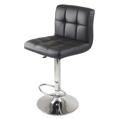 Stockholm Adjustable Height Swivel Bar Stool with Cushion by Winsome