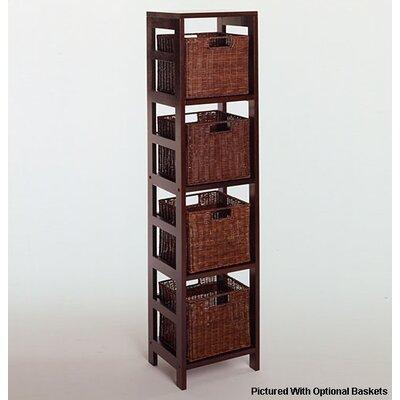 Winsome Espresso 4 Section Storage Shelf
