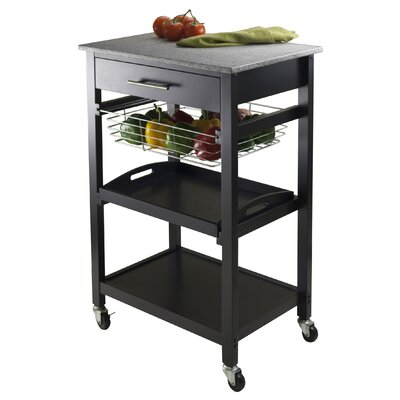 Winsome Julia Kitchen Cart with Granite Top