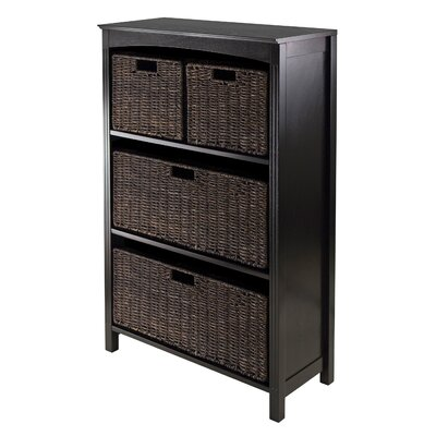 Terrace 4 Drawers Storage Shelf with Foldable by Winsome