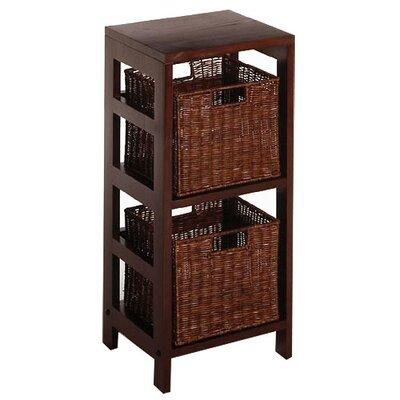 Espresso Storage Shelf And Baskets by Winsome