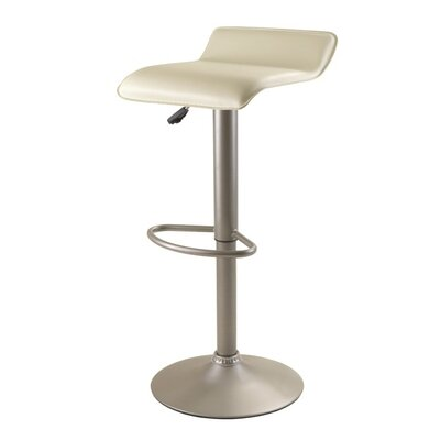 Winsome Airlift Adjustable Height Bar Stool With Cushion