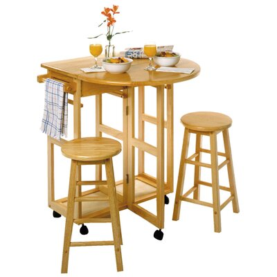 Basics 3 Piece Dining Table Set by Winsome