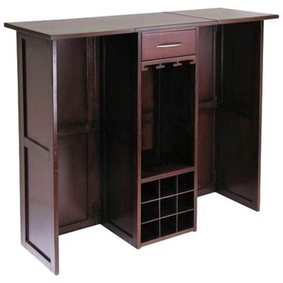 Winsome Newport Bar Cabinet with Wine Storage