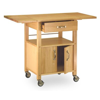 Basics Kitchen Cart with Wooden Top Product Photo