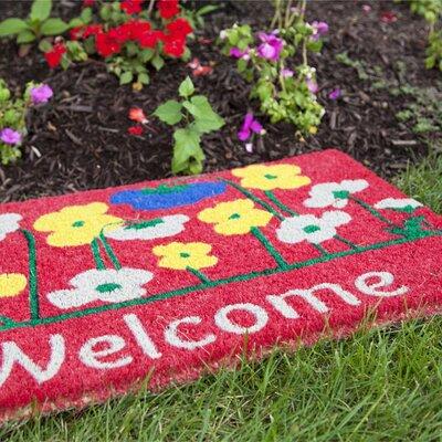 Entryways Handmade Poppies Welcome Doormat