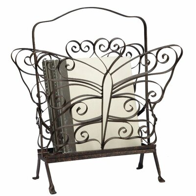 Butterfly Magazine Rack by Bombay Heritage