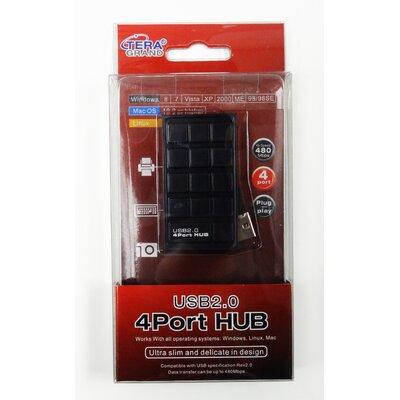 Tera Grand USB 2.0 4-Port Ultra Slim Hub, Black