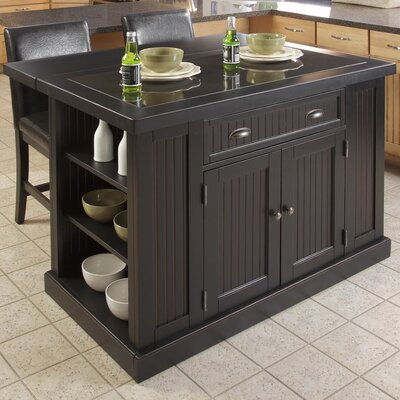 Nantucket Kitchen Island with Granite Top Product Photo