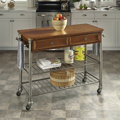 Orleans Kitchen Island with Wood Top Product Photo